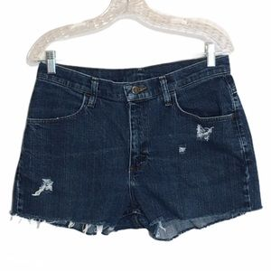 Lee Riders High Waist Cutoff Mom Jeans Shorts 10